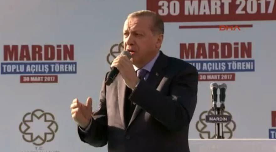 Erdoğan: Adını 'Tayyip Erdoğan' koymadım, ne kadar mütevazıyım görüyorsun…