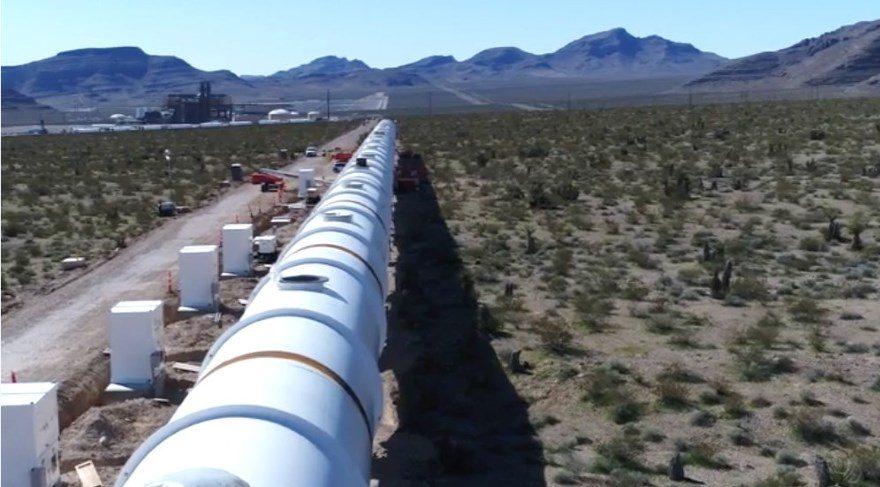 Yüksek hızlı taşımacılık sistemi Hyperloop One'ın Nevada projesinden ilk görüntüler