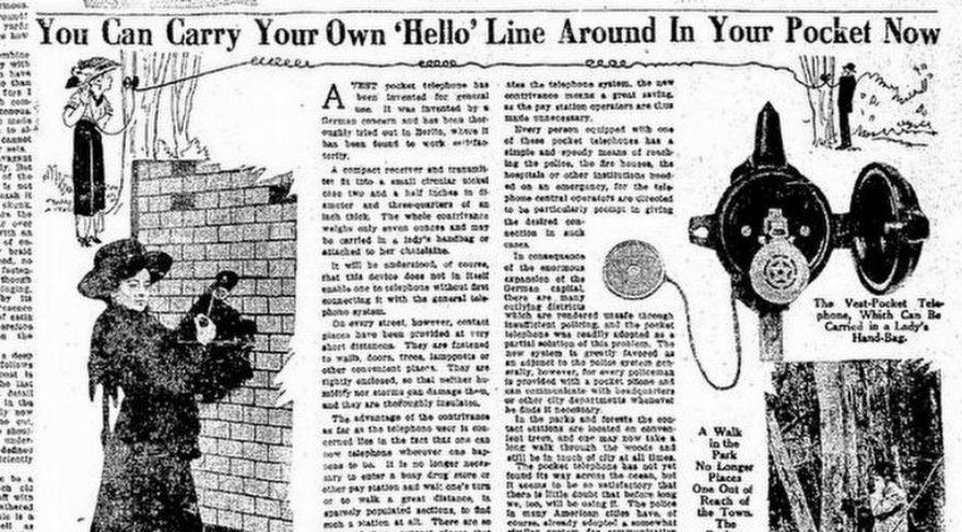 Tam 107 yıllık cep telefonu!