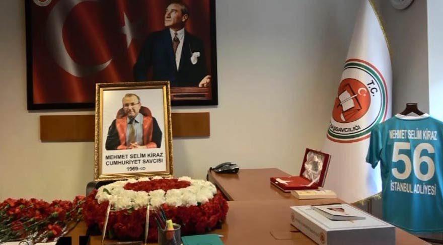 Şehit Cumhuriyet Savcısı Kiraz, İstanbul Adalet Sarayı'nda anıldı