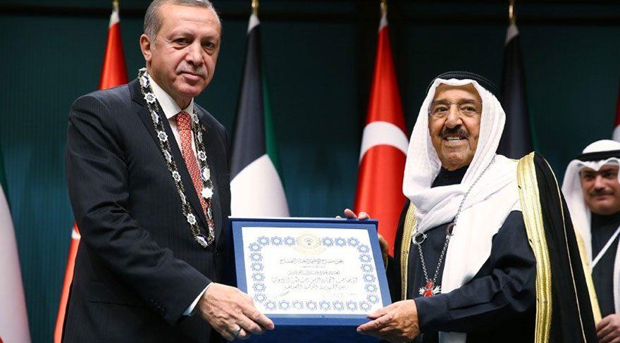 Kuveyt Emiri El Sabah'a Atatürk'süz Devlet Nişanı verildi
