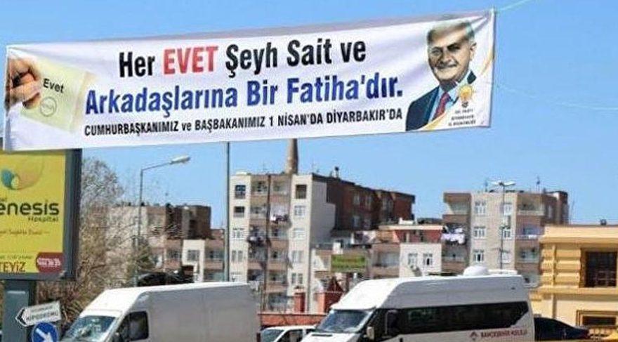 AKP'nin Şeyh Sait afişine HDP'den destek geldi