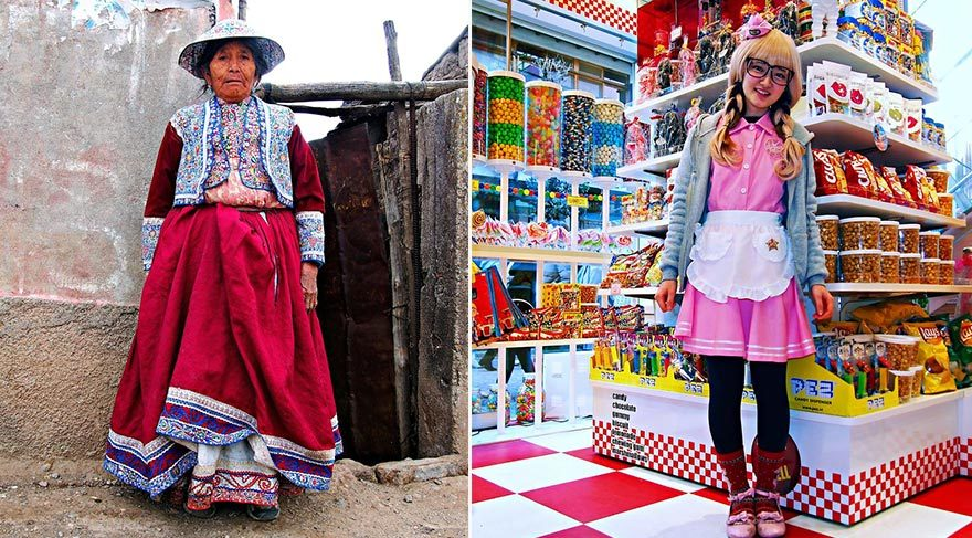 Dünya çapında insanların giyim tarzları