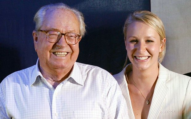 Ulusal Cephe kurucusu Jean-Marie Le Pen, torunu Marion ile birlikte...