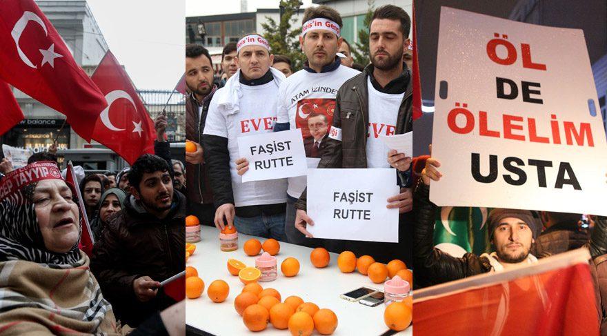 Küstah Hollanda'yı günlerce protesto etmiştik...