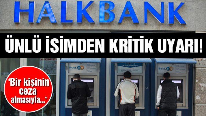 Temizel'den kritik Halkbank açıklaması