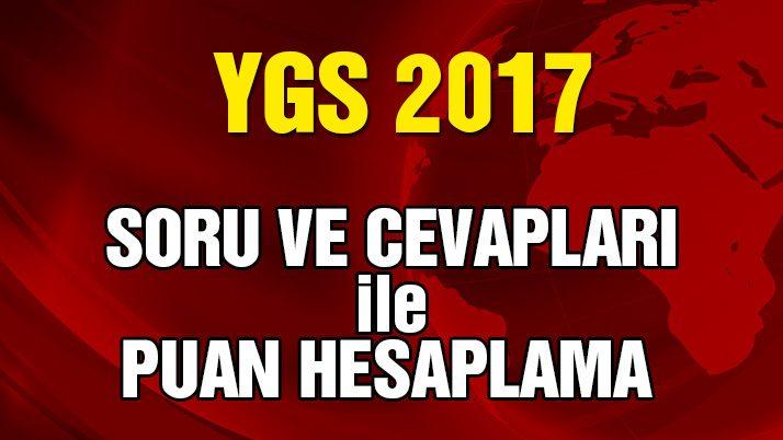 YGS Puan Hesaplama: Türkçe, Matematik, Fen Bilimleri, Sosyal Bilimler soru ve cevapları!