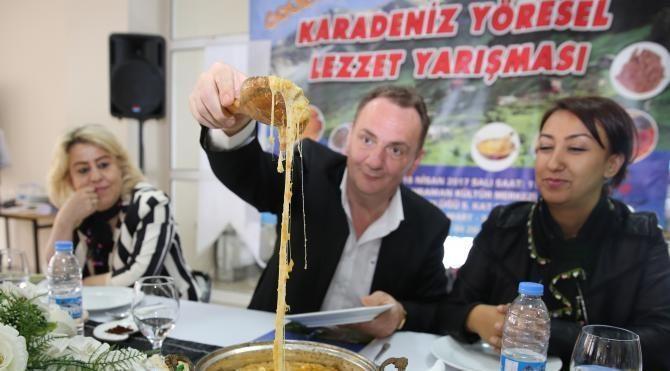 Karadeniz yöresi lezzetleri yarıştı