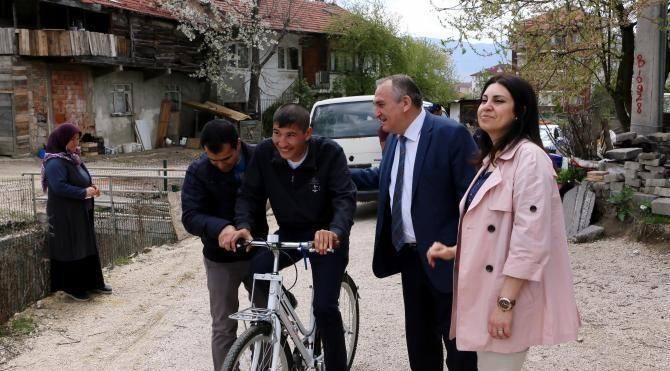 Engelli Fırat'ın bisiklet hayali gerçek oldu