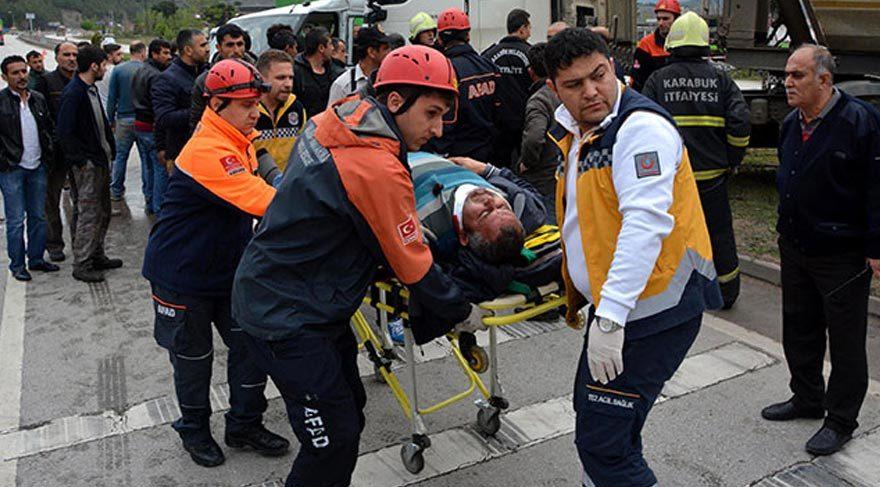 Karabük'te korkunç kaza: 1 ölü, 3 yaralı