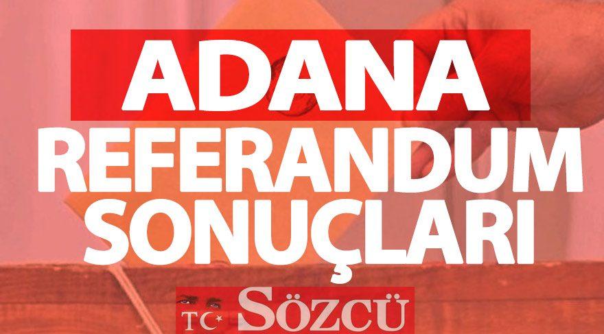 Adana 2017 referandum sonuçları: Adana oy oranları