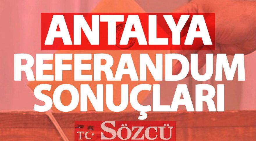 Antalya 2017 referandum sonuçları: Antalya oy oranları