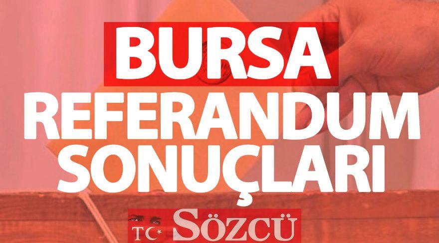 Bursa 2017 referandum sonuçları: Bursa oy oranları
