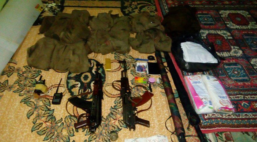 Camide PKK'nın silah ve mühimmatı bulundu