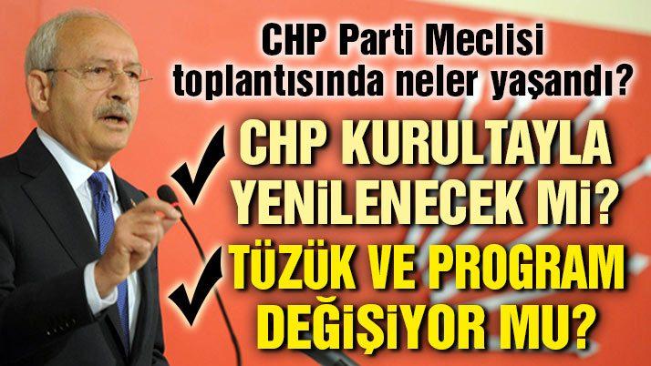 CHP Parti Meclisi toplantısının perde arkası!