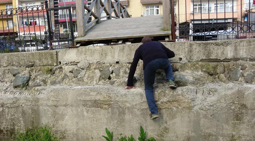 Rize'de çıkışı olmayan köprü
