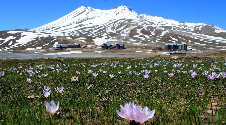 Erciyes Dağı'na bahar geldi