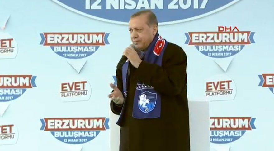 Erdoğan: Erzurum'a yeni meydan lazım