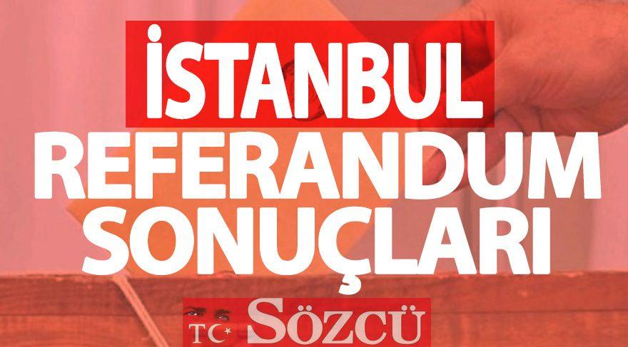 İstanbul 2017 referandum sonuçları: Evet ve Hayır oy oranları (16 NİSAN)