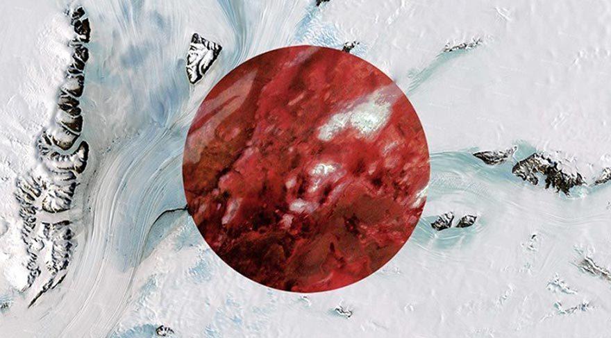 Uydu fotoğraflarından oluşan bayraklar