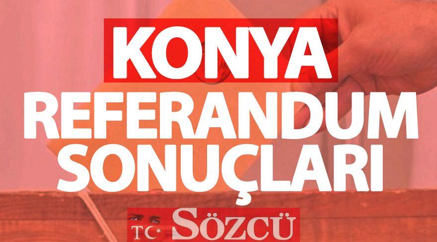 Konya 2017 referandum sonuçları: Konya oy oranları
