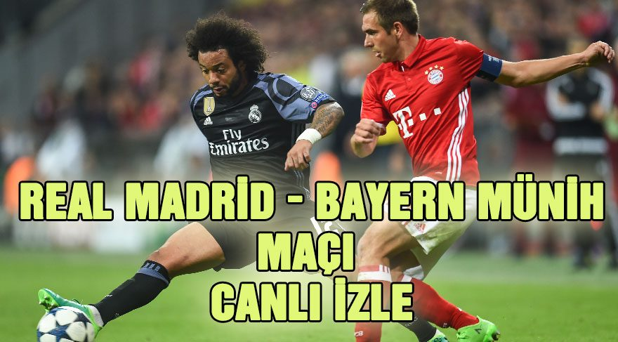 Real Madrid – Bayern Münih maçı canlı izle: Rövanşı kim alacak? (TRT 1 canlı yayın)