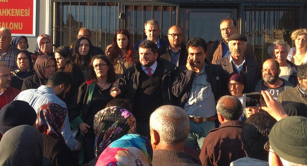 Madenci avukatlarından Can Atalay ve Selçuk Kozağaçlı davadaki son durum hakkında bilgi veriyor. Fotoğraf: DHA