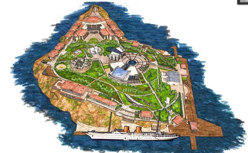 Yassıada'nın proje çizimi. Plan: Çevre ve Şehircilik Bakanlığı