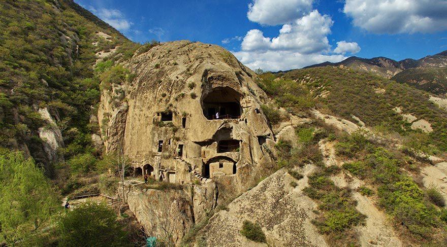 Kuzey Çin'de Türk Devleti Tabgaçlar'ın yaşadığı mağaralar