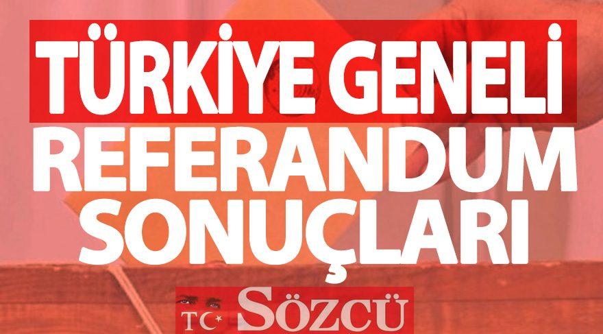 2017 referandum sonuçları: Türkiye geneli