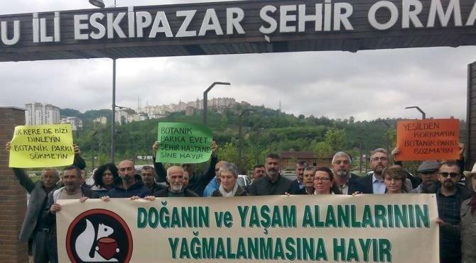 Çevrecilerden botanik parkına hastane yapılması kararına tepki