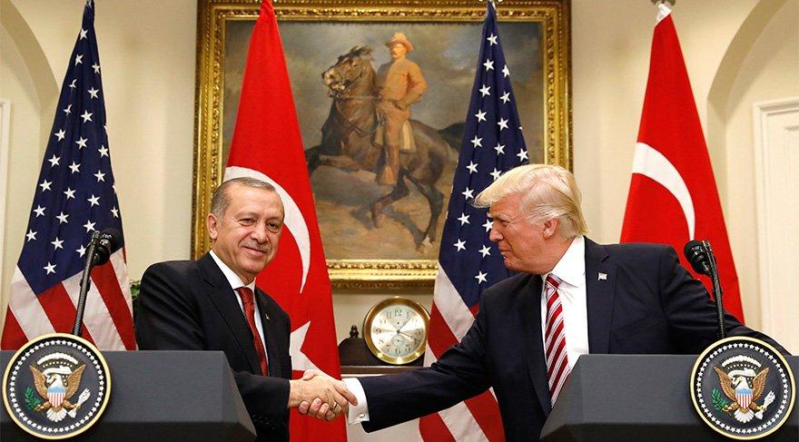 ABD lideri Trump Cumhurbaşkanı Erdoğan'la bu atmosferde görüştü