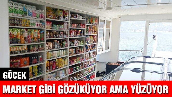 Süpermarketler denize indi