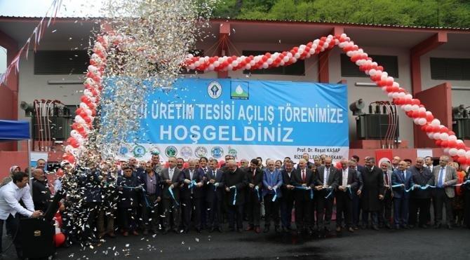 Rize'de içme suyu kaynağına kurulan HES törenle açıldı, çevreciler tepkili