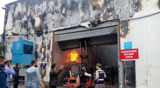Atık depolama tesisi yandı