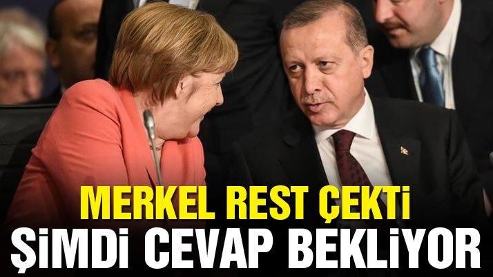 Merkel Erdoğan'dan yanıt bekliyor