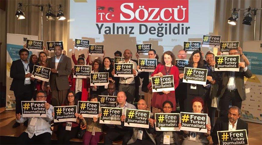 Dünya gazetecilerinden SÖZCÜ'ye destek