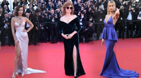 70'inci Cannes Film Festivali'nde kırmızı halı şıklığı