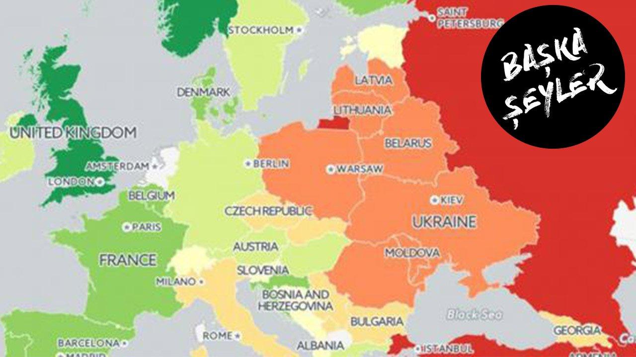 Avrupa eşcinsel olmak için en iyi ve en kötü yerler