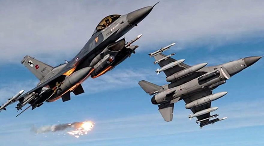 Bayraktar tespit etti, F16'lar vurdu