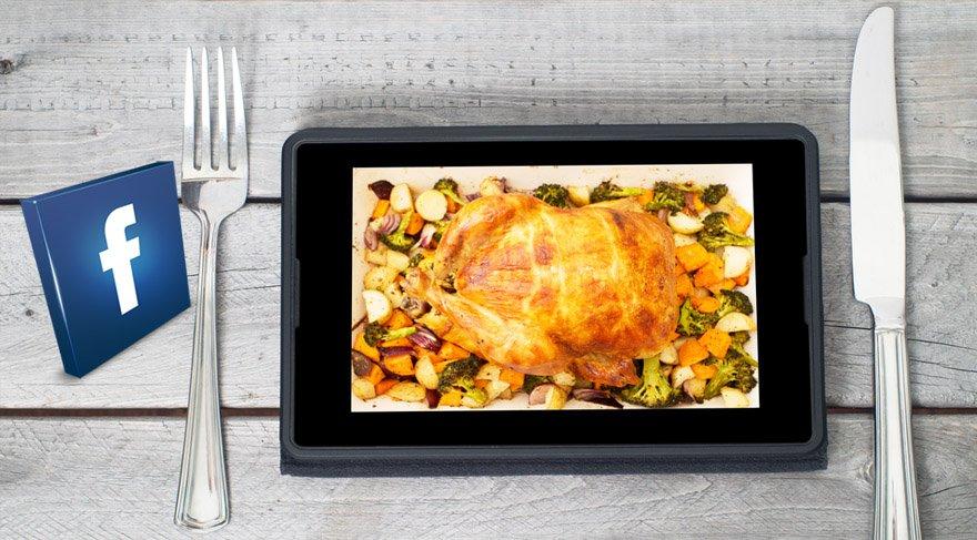 Facebook soframıza kadar geliyor: Yemeğinizi Facebook getirecek!
