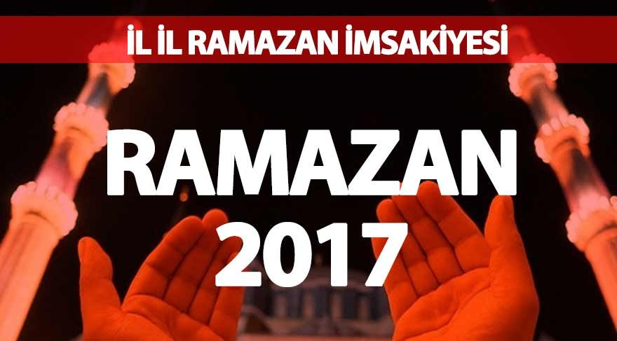 İl il sahur ve iftar vakitleri: 2017 Ramazan imsakiyesi