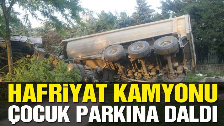 İstanbul'da hafriyat kamyonu terörü