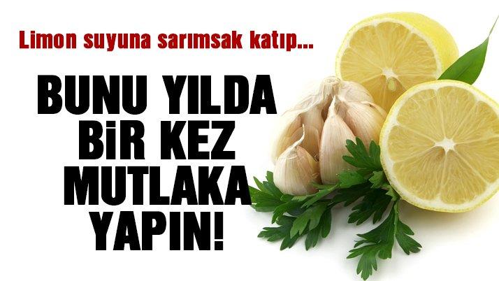 Limon sarımsak mucizesi!