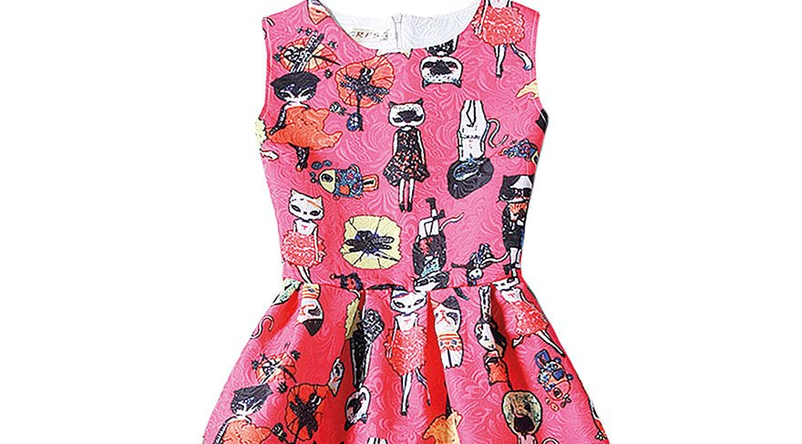new-fashion-summer-women-bohemian-cat-lady-dress-girls-vest-printed-beach-dresses-sleeveless-slim-fit