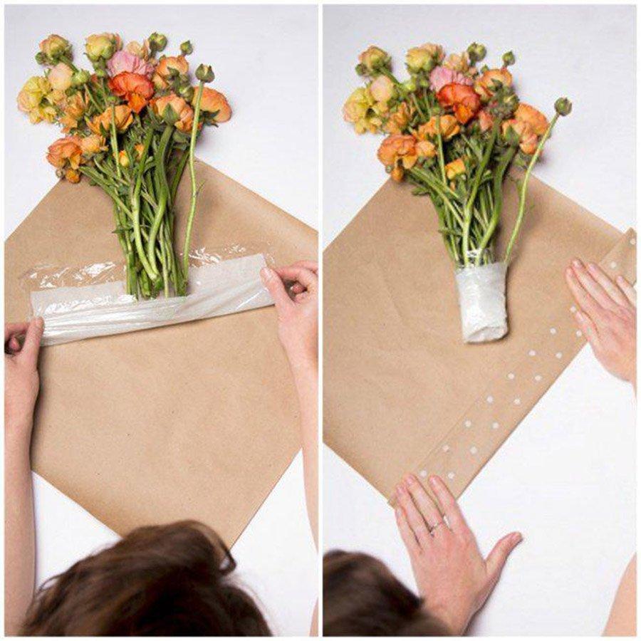 Как красиво упаковать цветы своими руками