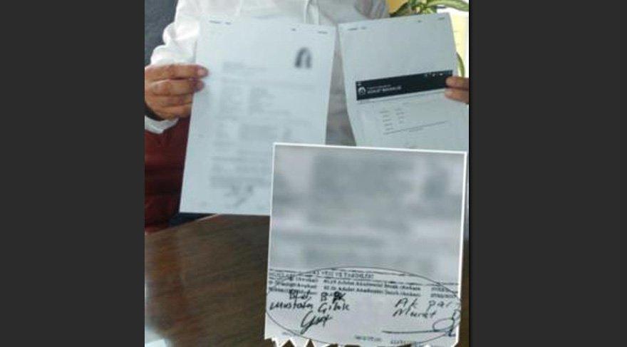 Skandal 'torpil belgesi' yanlışlıkla ortaya çıktı