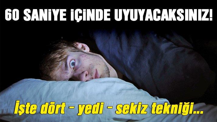 60 saniye içinde uyuyacaksınız!