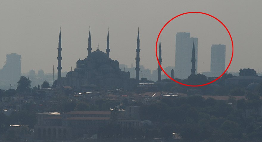 İstanbul'un silüetini bozan 16-9 binaları. Fotoğraf: Depo Photos