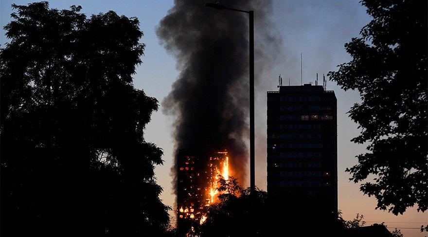 Londra'da dev binada yangın! Can kayıpları var